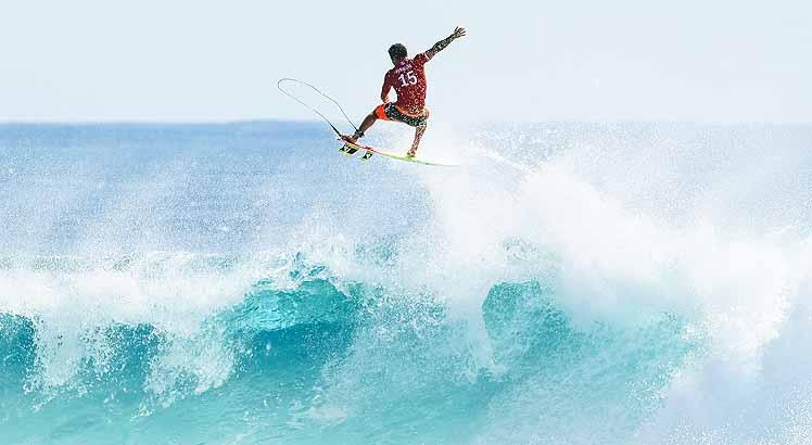 Italo Ferreira of Brazil won Heat 7 of Round Two at the Quik Pro Gold Coast, Australia.
