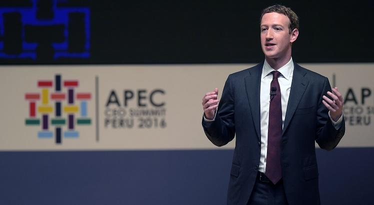 CEO do Facebook,  Mark Zuckerberg, durante a APEC CEO Summit. Foto: AFP / Rodrigo BUENDIA