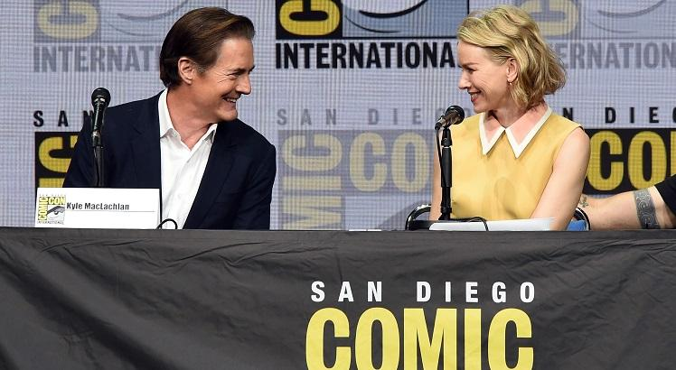 Kyle MacLachlan e Naomi Watts, durante a   Comic-Con International 2017. Kevin Winter/Getty Images/AFP