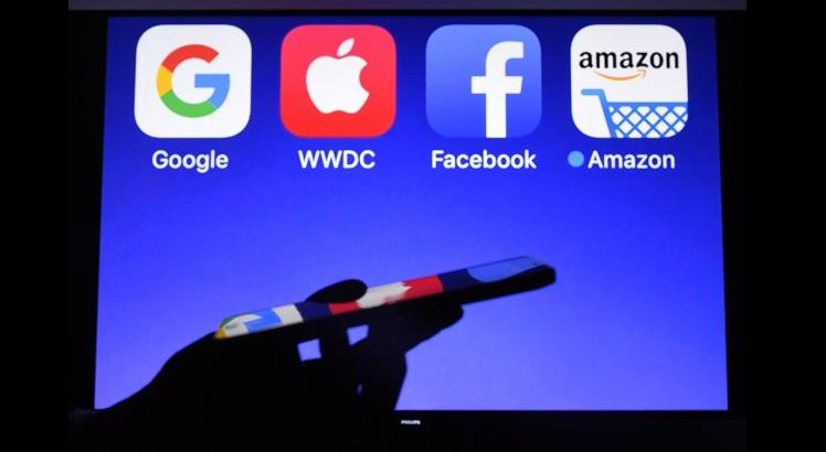 GAFA (Google, Apple, Facebook e Amazon) - AFP PHOTO / Damien MEYER